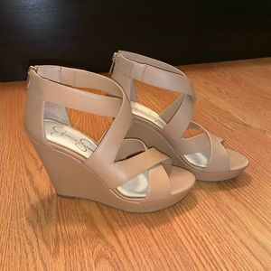 Tan Wedges, Jessica Simpson Line